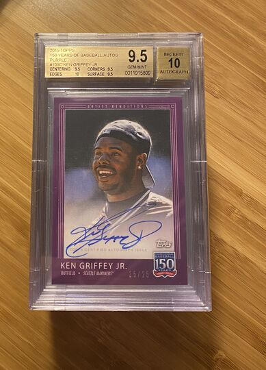 2019 Topps 150 Years Purple Ken Griffey Jr. Auto #25/25