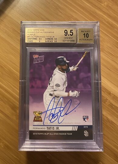 2019 Topps Now Rookie Cup Autographs Purple Fernando Tatis Jr #6/25