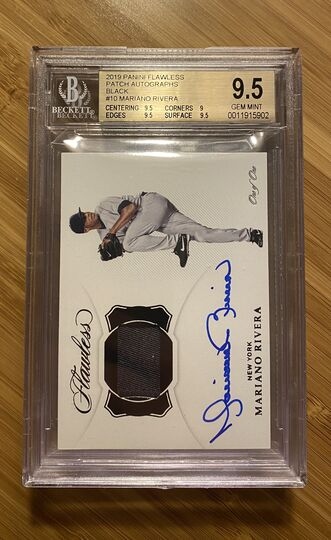 2019 Flawless Patch Autographs Black Mariano Rivera #1/1 BGS 9.5 Auto 10