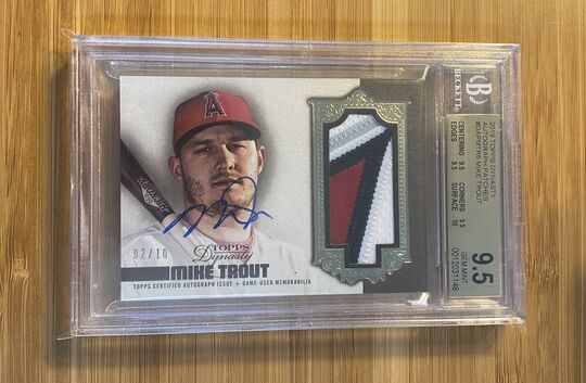 2019 Topps Dynasty Mike Trout Auto