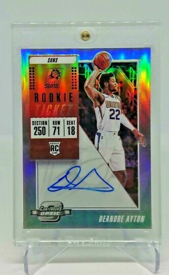 2018-19 Contenders Optic DeAndre Ayton Silver Rookie Ticket Auto