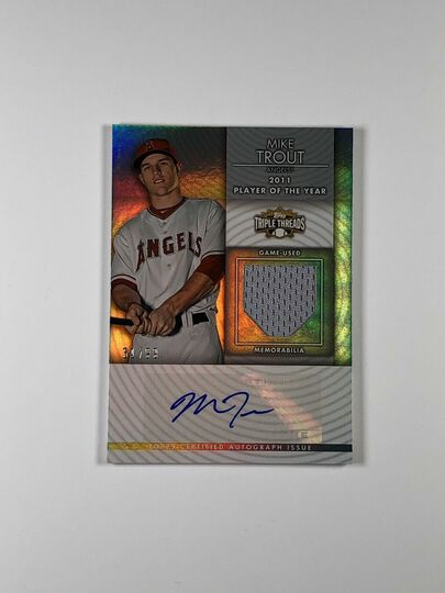 2012 Triple Threads Mike Trout Auto