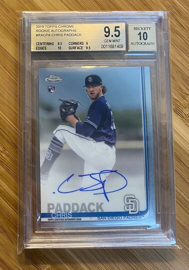 2019 Topps Chrome Chris Paddack Auto
