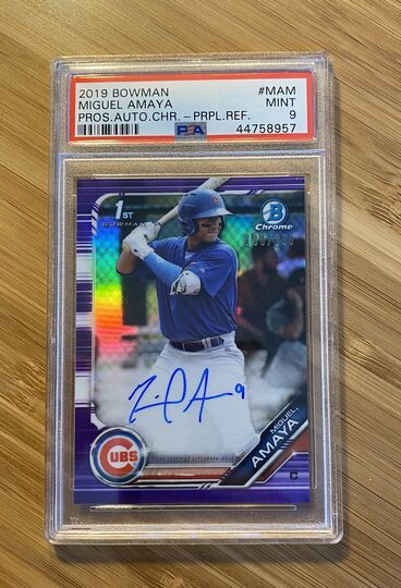 2019 Bowman Chrome Purple Miguel Amaya Auto
