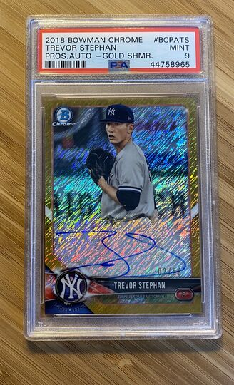 2018 Bowman Chrome Gold Shimmer Trevor Stephan Auto