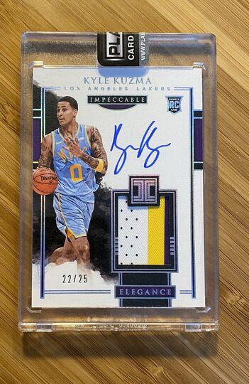 2017-18 Impeccable Kyle Kuzma Auto /25