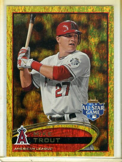 2012 Topps Update Gold Sparkle Mike Trout