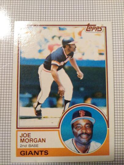 1983 Topps Joe Morgan