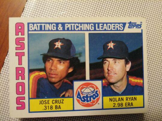 1984 Topps Jose Cruz & Nolan Ryan