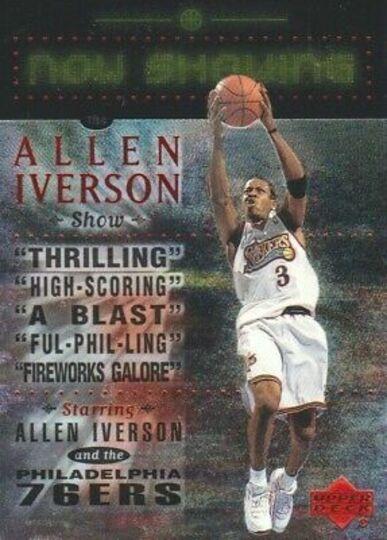 allen iverson upper deck now showing