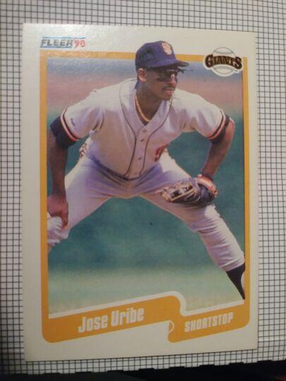 1990 Fleer Jose Uribe