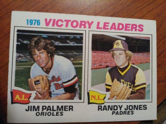 1976 Topps jim palmer & randy jones