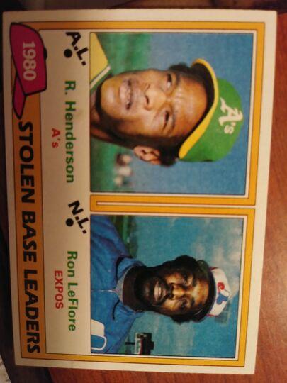 1981 Topps stolen base leaders