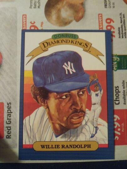 1985 Donruss Diamond Kings Willie Randolph