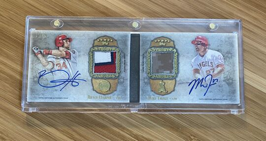 2013 Topps Five Star Mike Trout Bryce Harper Auto