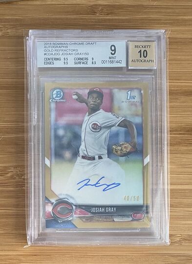 2018 Bowman Chrome Gold Auto Josiah Gray