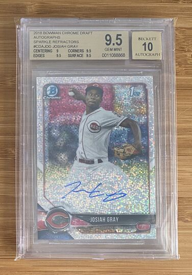 2018 Bowman Chrome Sparkle Josiah Gray Auto