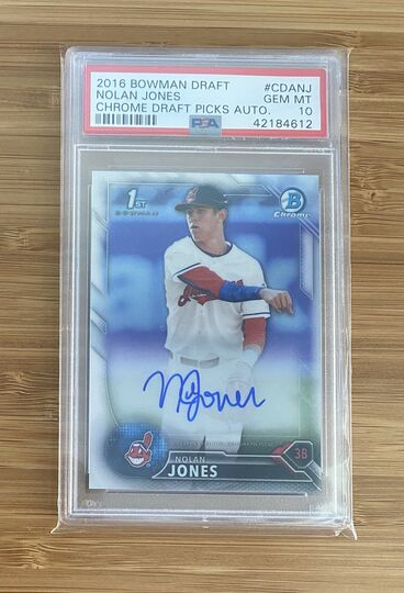 2016 Bowman Chrome Nolan Jones Auto PSA 10