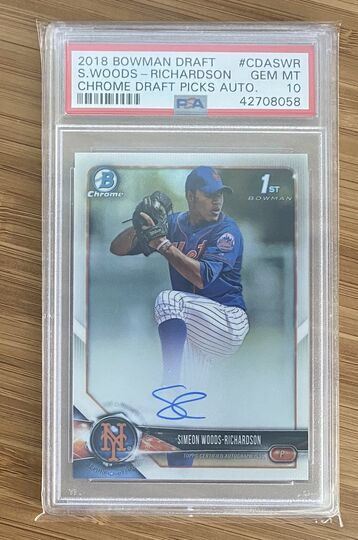 2018 Bowman Chrome Simeon Woods-Richardson Auto PSA 10