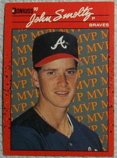 john smoltz error card 1989