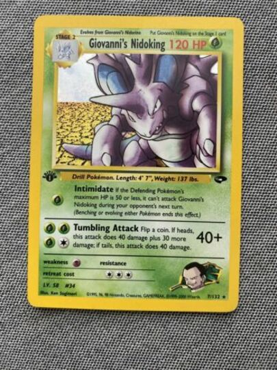 Rare 1st Edition Near Mint Gym Challenge Pokemon Resistance Gym 109//132