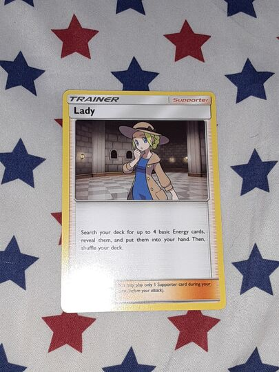 Lady pokemon card