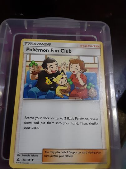 pokemon fan club card