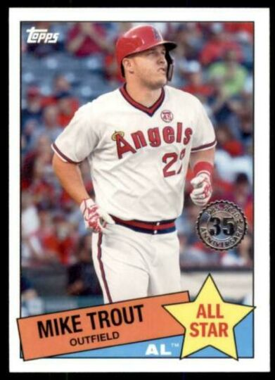 2020 topps series 2 mike trout 85AS-1