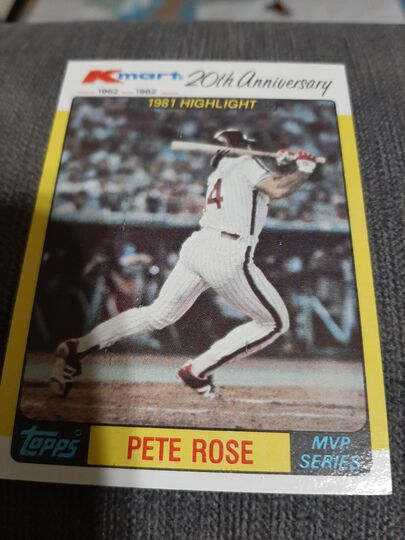 1982 Topps Kmart 20th Anniversary  Pete Rose #44 of 44