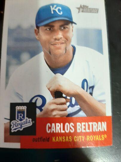 2002 Topps Heritage Carlos Beltran #306