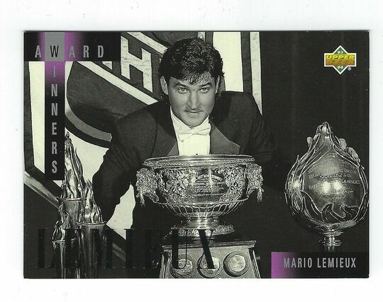 1993-94 Upper Deck Award Winners Mario Lemieux AW 1