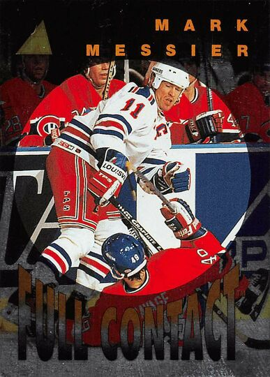 1995-96 Pinnacle Full Contact #12 Mark Messier