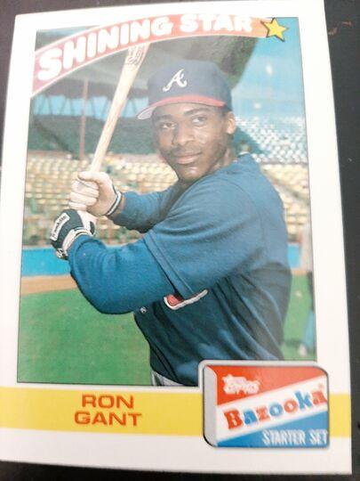 1989 Topps Bazooka Shining Star Ron giant #9 of 22