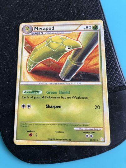 Uncommon NM-Mint Pokemon HGSS 4x Metapod 46//123 Heartgold Soulsilver