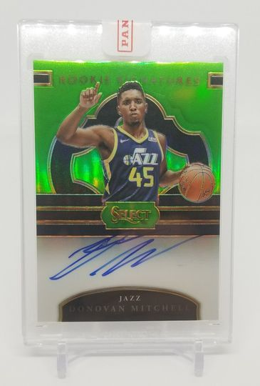 2017-18 Select Rookie Signatures Auto Donovan Mitchell Neon Green Prizms /65