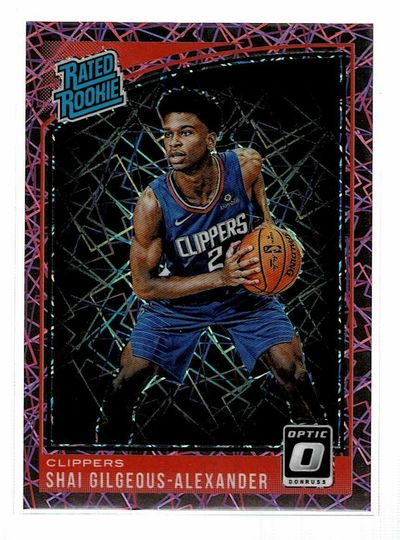 2018-19 Optic Shai Gilgeous-Alexander RC Pink Velocity Prizm