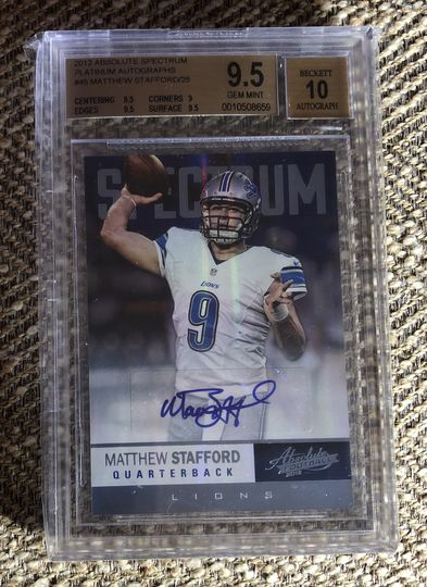 2012 Absolute Spectrum Matthew Stafford
