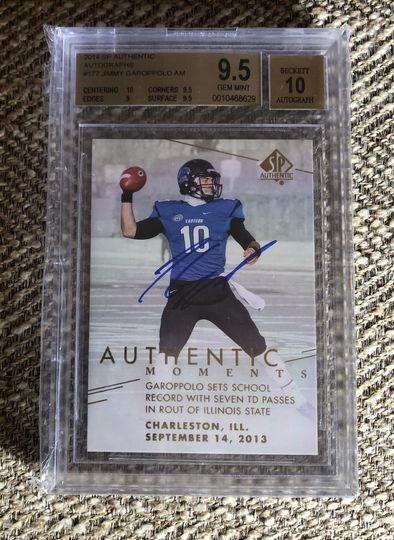 2014 SP Authentic Auto Jimmy Garoppolo BGS 9.5