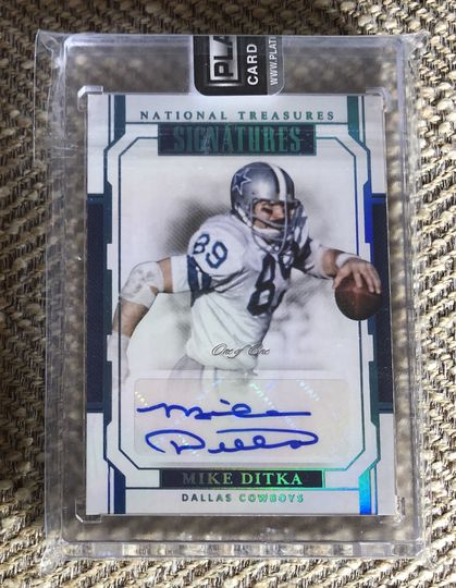 2018 National Treasures Signatures Mike Ditka True 1/1 Auto