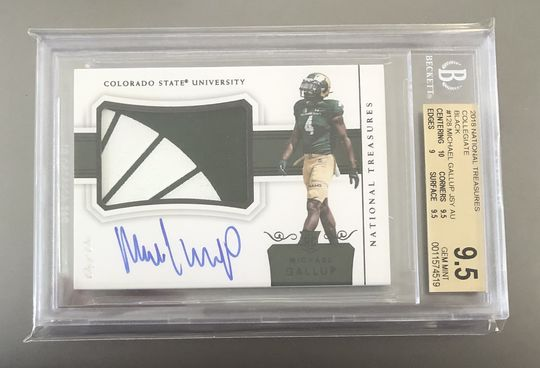 2018 National Treasures Michael Gallup 1/1 Logo College