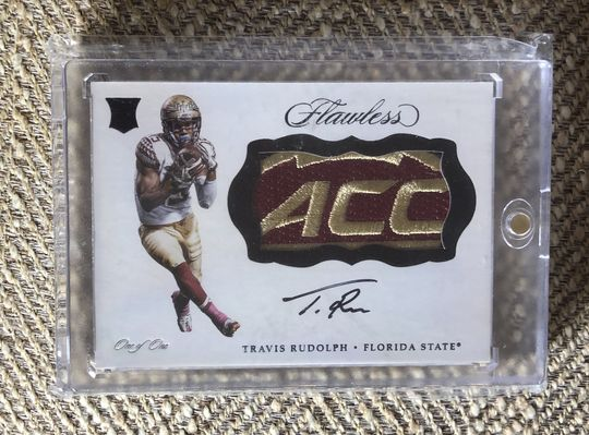 2018 Flawless Travis Rudolph 1/1