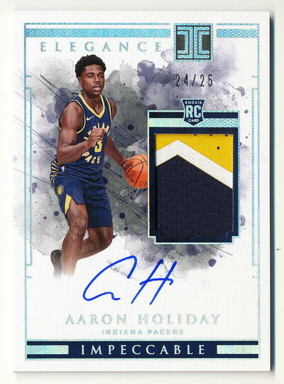 2018-19 Aaron Holiday Panini Impeccable Elegance #24/25