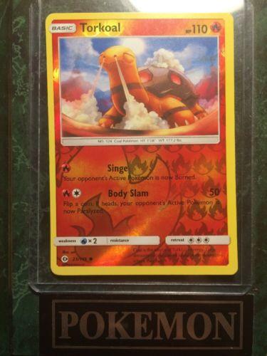 TORKOAL 4X POKEMON SUN /& MOON CARD 23//149