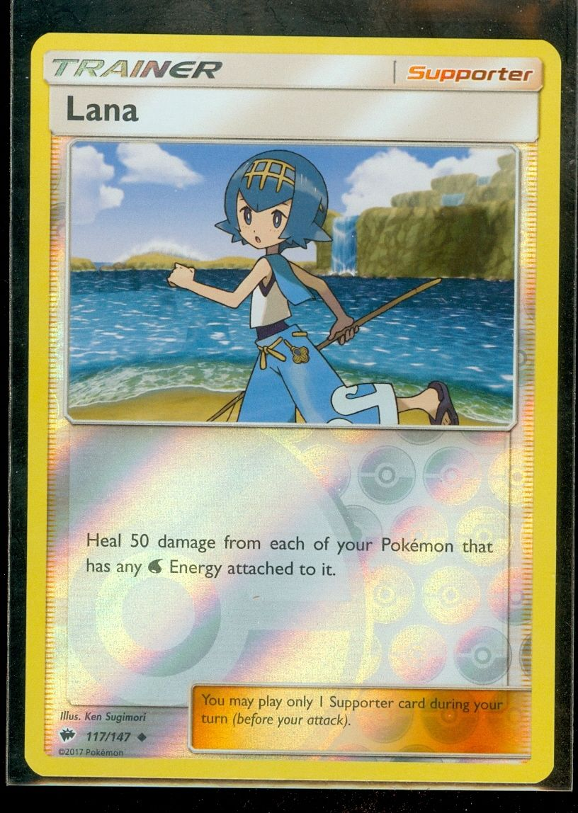 4 x Lana 117//147 Pokemon Trainer Cards SM03 Burning Shadows
