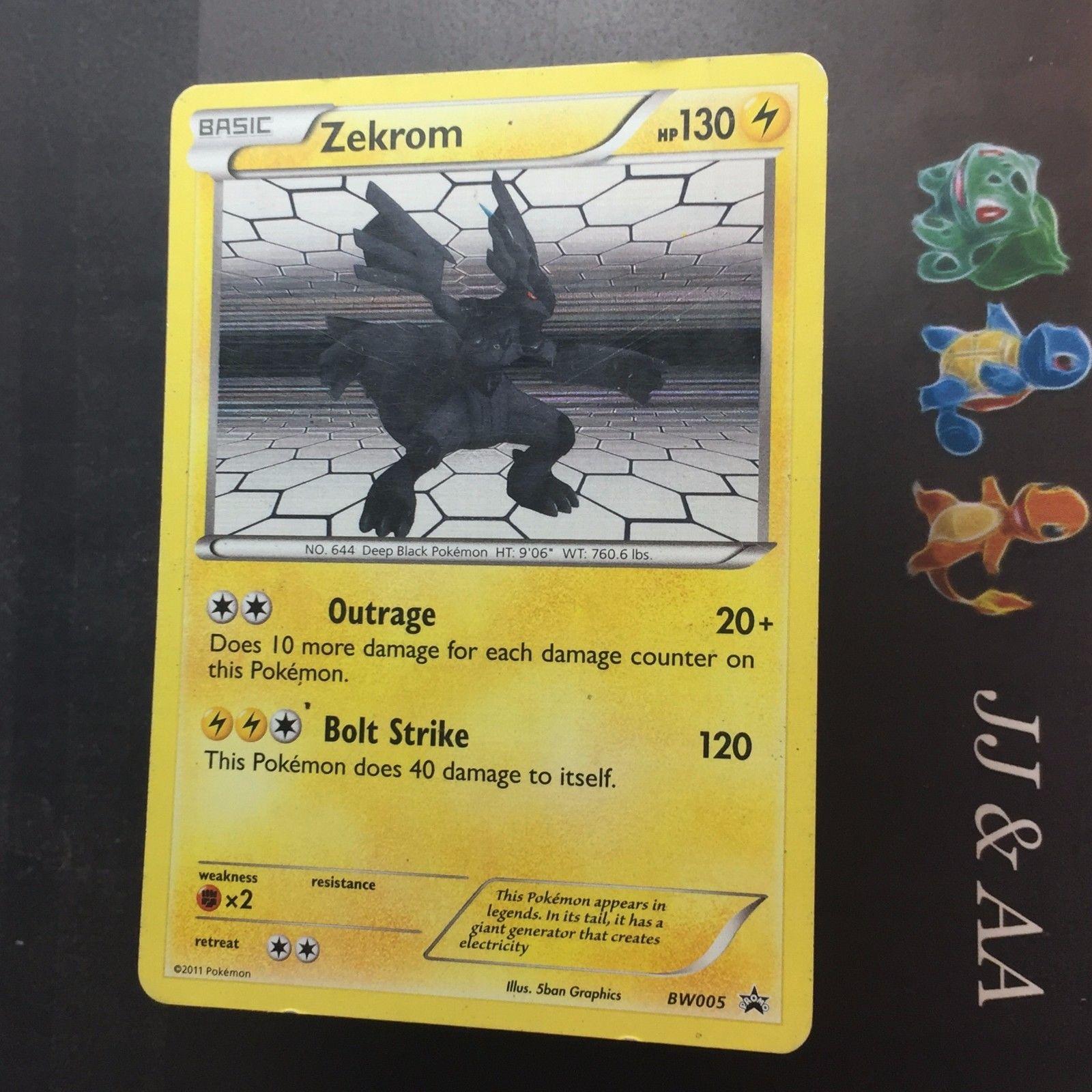 ZEKROM Holo Rare Pokemon NM Card PROMO Black Star BW005