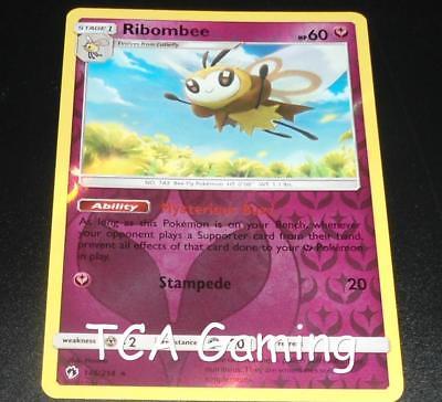 Lost Thunder 146//214 Rare NM-Mint Pokemon SM10 4x Ribombee