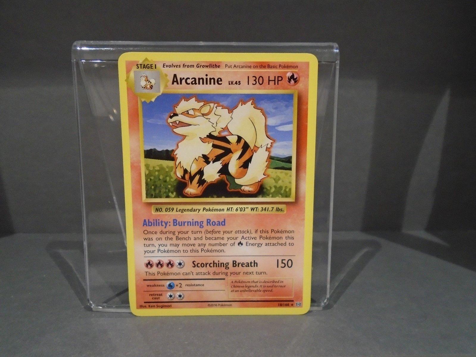 2016 pokemon Evolutions rare Arcanine 18//108