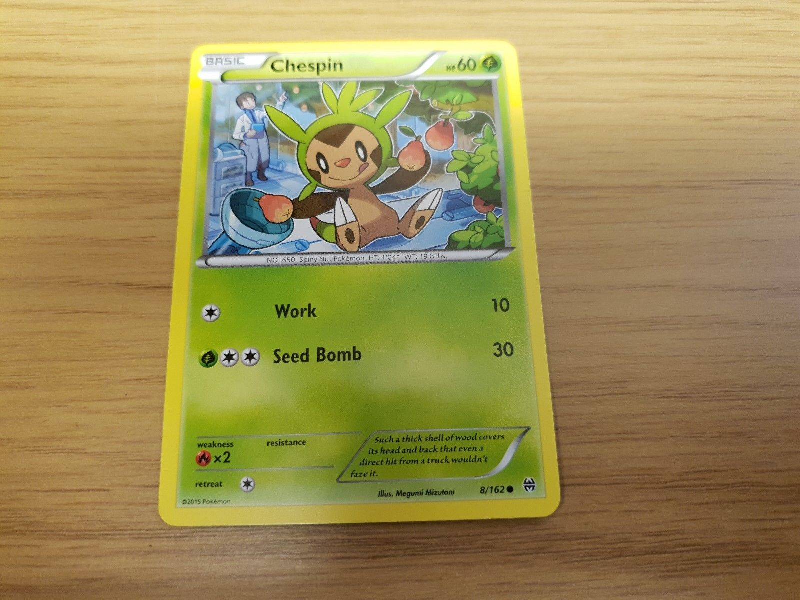 Reverse Holo Pokemon XY Breakthrough M//NM English Common x4 Chespin 7//162