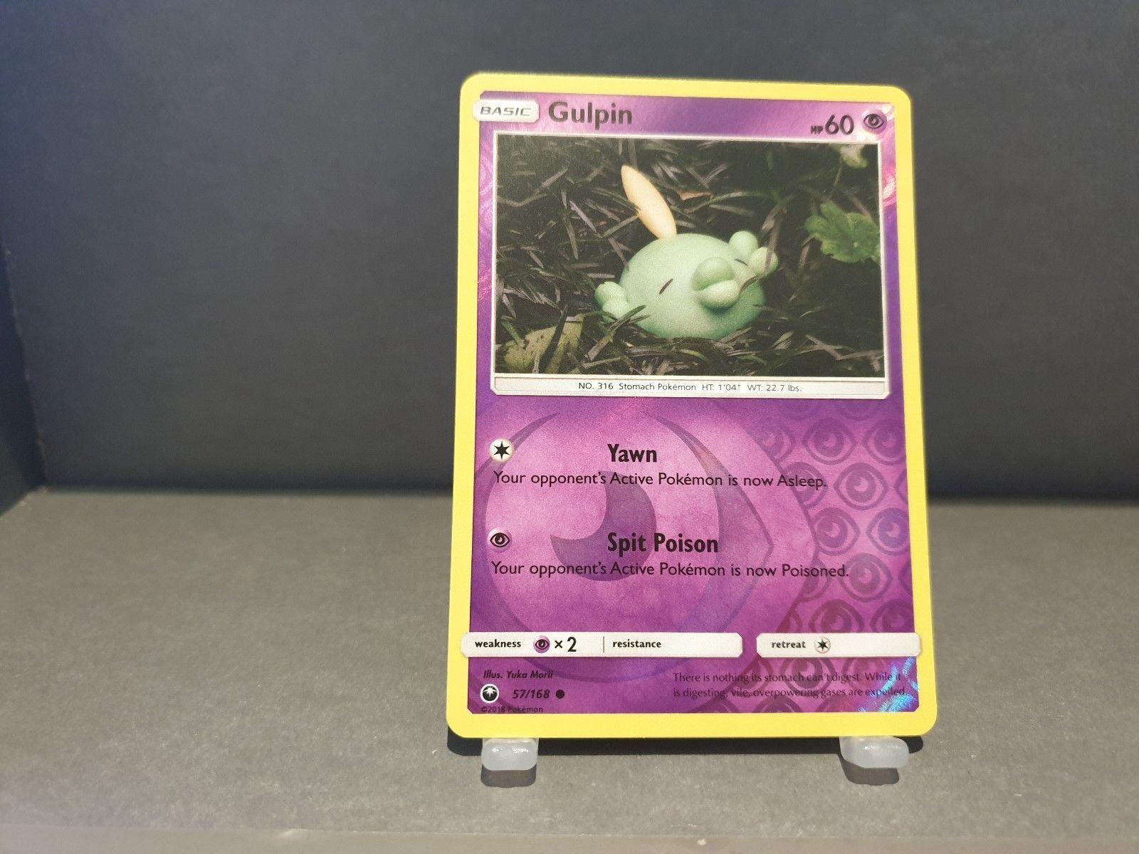 Pokemon TCG Celestial Storm Gulpin 57//168 Common Reverse Holo NM-M