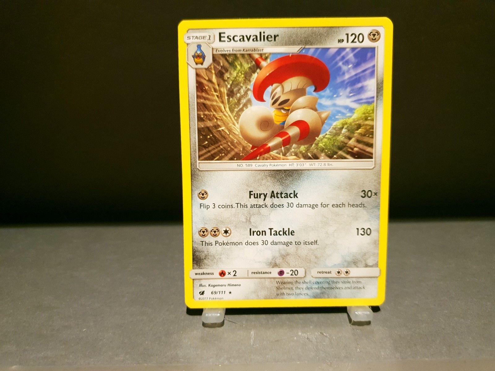 Pokemon Card - ESCAVALIER - Crimson Invasion - 69/111 - Mint